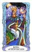King of Coins Tarot card in Tarot of a Moon Garden deck
