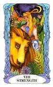 Strength Tarot card in Tarot of a Moon Garden deck