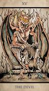 The Devil Tarot card in Tarot Nuages deck