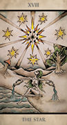 The Star Tarot card in Tarot Nuages deck