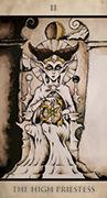 The High Priestess Tarot card in Tarot Nuages deck