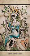 The Empress Tarot card in Tarot Nuages deck