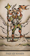 Page of Wands Tarot card in Tarot Nuages deck