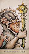 Knight of Wands Tarot card in Tarot Nuages deck