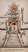 Queen of Wands Tarot card in Tarot Nuages deck