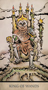 King of Wands Tarot card in Tarot Nuages deck