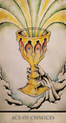 Ace of Chalices Tarot card in Tarot Nuages deck