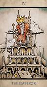 The Emperor Tarot card in Tarot Nuages deck