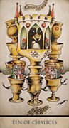 Ten of Chalices Tarot card in Tarot Nuages deck