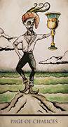 Page of Chalices Tarot card in Tarot Nuages deck