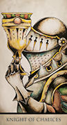 Knight of Chalices Tarot card in Tarot Nuages deck