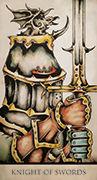Knight of Swords Tarot card in Tarot Nuages deck