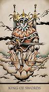 King of Swords Tarot card in Tarot Nuages deck