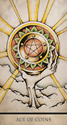 Ace of Coins Tarot card in Tarot Nuages deck