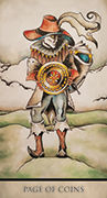 Page of Coins Tarot card in Tarot Nuages deck