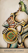 Knight of Coins Tarot card in Tarot Nuages deck
