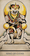 King of Coins Tarot card in Tarot Nuages deck