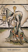 The Hermit Tarot card in Tarot Nuages deck