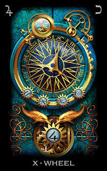 The Wheel of Fortune Tarot Card - Tarot of Dreams Tarot Deck