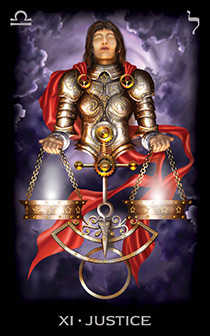 Justice Tarot Card - Tarot of Dreams Tarot Deck