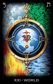 The World Tarot Card - Tarot of Dreams Tarot Deck