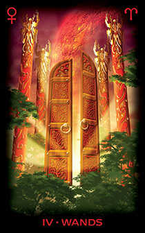 Four of Wands Tarot Card - Tarot of Dreams Tarot Deck
