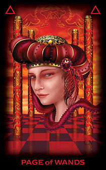 Valet of Batons Tarot Card - Tarot of Dreams Tarot Deck