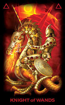 tarot-of-dreams - Knight of Wands
