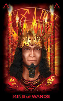 King of Batons Tarot Card - Tarot of Dreams Tarot Deck