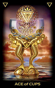 Ace of Cups Tarot Card - Tarot of Dreams Tarot Deck