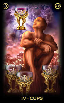 Four of Cups Tarot Card - Tarot of Dreams Tarot Deck