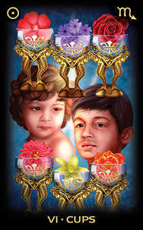 Six of Cups Tarot Card - Tarot of Dreams Tarot Deck