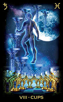 Eight of Water Tarot Card - Tarot of Dreams Tarot Deck