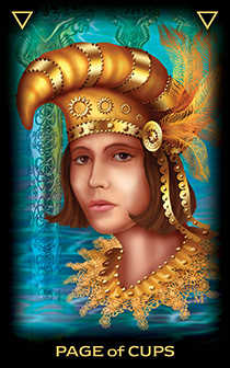 Daughter of Cups Tarot Card - Tarot of Dreams Tarot Deck
