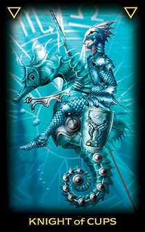 Warrior of Cups Tarot Card - Tarot of Dreams Tarot Deck