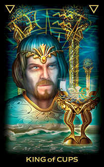 King of Cups Tarot Card - Tarot of Dreams Tarot Deck