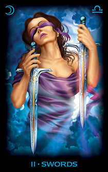 Two of Bats Tarot Card - Tarot of Dreams Tarot Deck