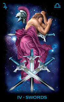 Four of Swords Tarot Card - Tarot of Dreams Tarot Deck