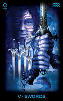 Five of Swords Tarot Card - Tarot of Dreams Tarot Deck