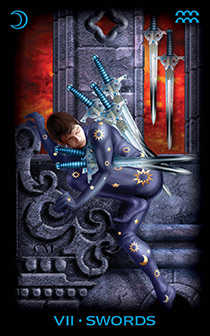 Seven of Bats Tarot Card - Tarot of Dreams Tarot Deck
