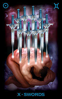 Ten of Swords Tarot Card - Tarot of Dreams Tarot Deck