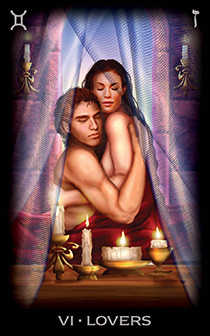 The Lovers Tarot Card - Tarot of Dreams Tarot Deck