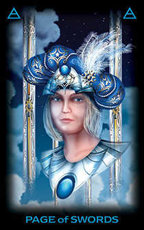 Daughter of Swords Tarot Card - Tarot of Dreams Tarot Deck