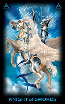 Knight of Spades Tarot Card - Tarot of Dreams Tarot Deck