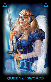 Reine of Swords Tarot Card - Tarot of Dreams Tarot Deck