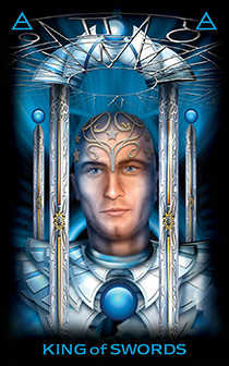 King of Swords Tarot Card - Tarot of Dreams Tarot Deck