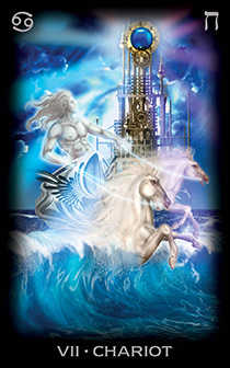 The Chariot Tarot Card - Tarot of Dreams Tarot Deck