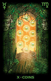 Ten of Diamonds Tarot Card - Tarot of Dreams Tarot Deck