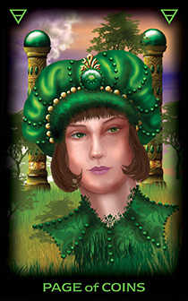 Page of Coins Tarot Card - Tarot of Dreams Tarot Deck