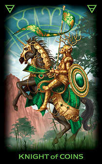 Knight of Coins Tarot Card - Tarot of Dreams Tarot Deck